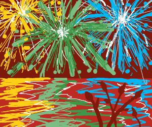Lots of pretty fireworks