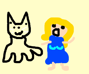 Catopus abducts blonde chick