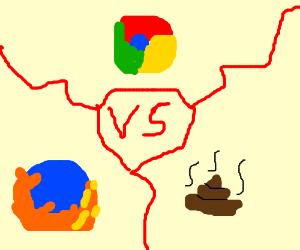 firefox vs google chrome vs internet explorer Drawception
