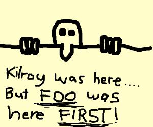 Kilroy h8s FOO furr beating him home