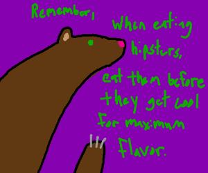 Bears' like eating hipsters