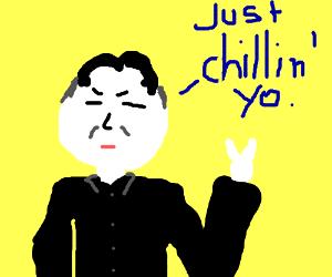 Kim Jon chillin
