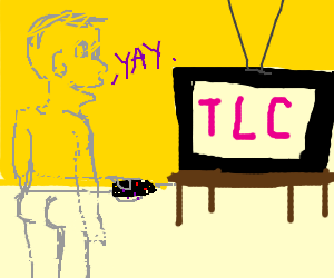 Naked transparent person likes tlc on tv
