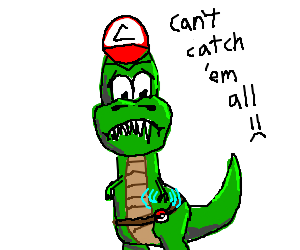 Dinosaurs can't be pokemon trainers.