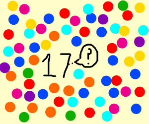 Questioning 17 in a polka dot abyss