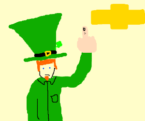 Leprechaun gives the finger to chevy