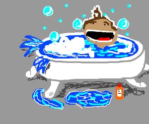 Splish splash ginger pee bath