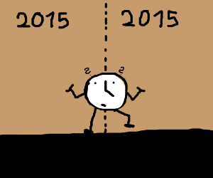 Time walking from 2015 to 2015