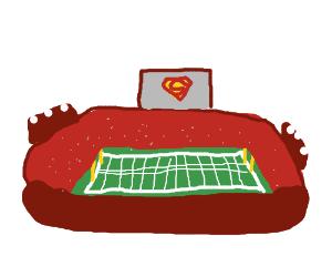 Superbowl sponsored by Superman