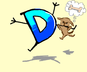 Drawception D is bitten by a dog.