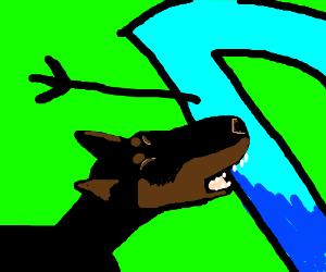 dog bites Drawception D