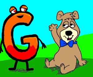 Yogi bear's friend chillin' with letter G
