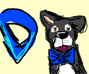 Growception and puppy-dog with blue bow-tie
