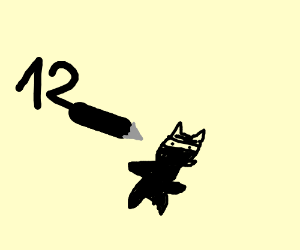 Get number 12 to draw a ninja cat!