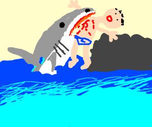 Shark jumping over the Moon - Drawception