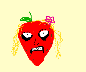 Strawberry blonde girl with make up