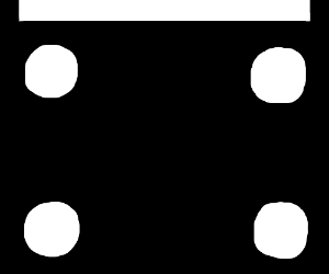 Bottom half of a domino