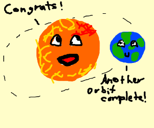 Congrats on another complete orbit