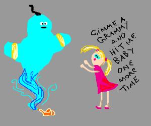 Brittney Spears wish for a Grammy from genie