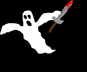 Image result for ghost holding sword