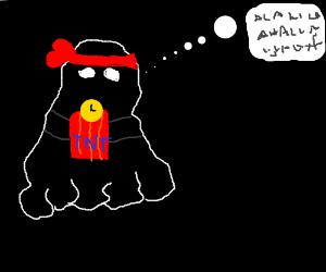 a ghost terrorist plants a bomb