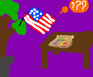 American tree can't figure out treasure map