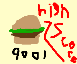 Hamburger wins high score