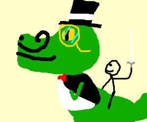 Lou Reed rides a fancy dinosaur