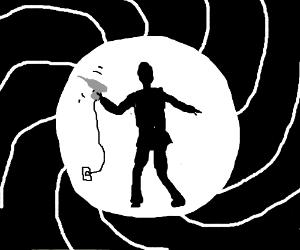007 uses electric screwdriver as gun