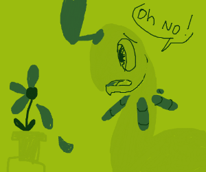 Bayleef sheds his flowers