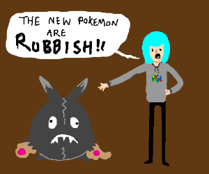 brutal yet ironic commentary on new pokemon