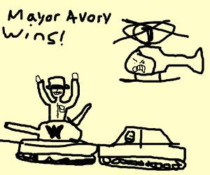 Mayor Avory of Crazy Town wins race