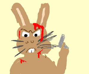Angry bloody bunny