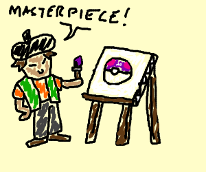 Brock paints a master ball