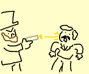 Abraham Lincoln shoots man through the cheek
