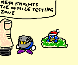 King Dedede spying on missletoe