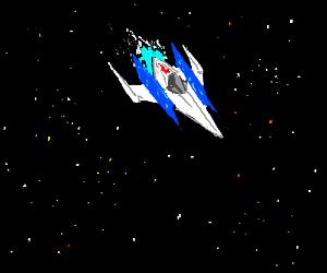 SPACESHIP JET STARS SPACE