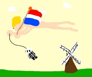 The flying dutchman has a skeleton owl