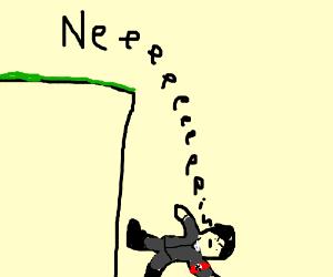Hitler falls off a cliff