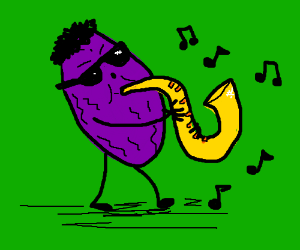 saxophone-playing prune from foodfight