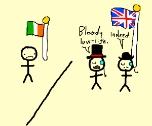 Stickman can't enter British Stickman's side