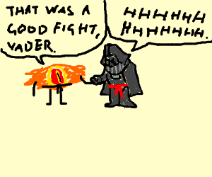 Vader and Sauron: good sports, martial artists