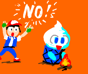 "A Nintendo Gamer yells ""NO"" at Vanillete(PKMN)"