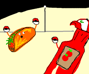 Taco the Pokemon trainer and Ash Ketchup