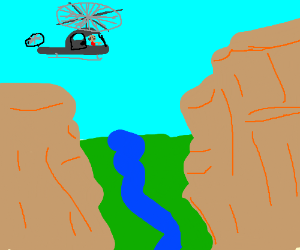 """""""Land the helicopter on that cliff edge!"""""""