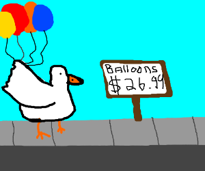 Chicken Selling Overpriced Balloons