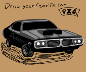 Draw your favourite car and pass it on