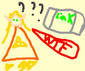 Zelda doesn't understand the Wii U controller