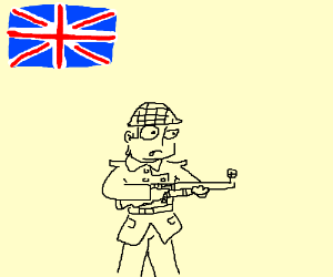 British soldier with rifle