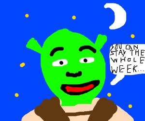 5 nights at Shreks Swamp.